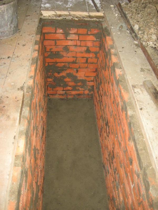 Как сделать яму в гараже из кирпича