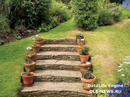Как делаются ступеньки на садовом участке