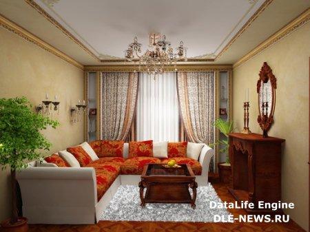 Оформление гостиной комнаты в женском стиле