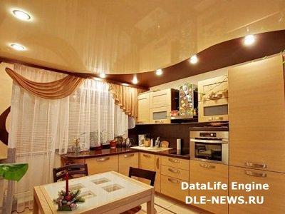 Кухонные натяжные потолки