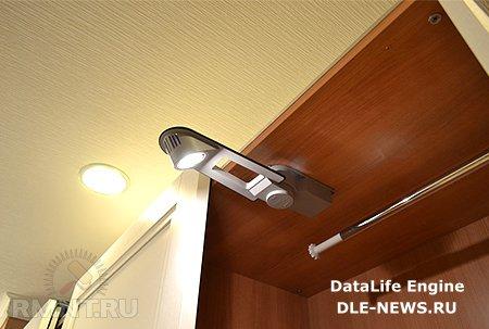 Монтаж подсветки для шкафа-купе