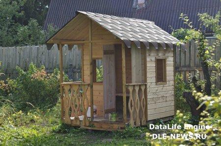 Домик для ребенка на садовом участке