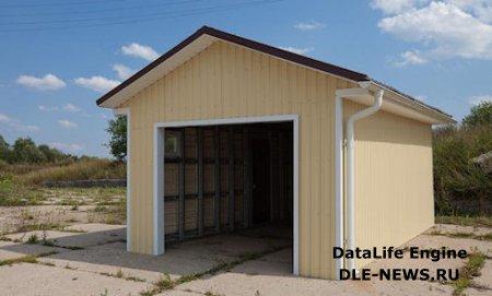 Строительство простого каркасного гаража своими силами