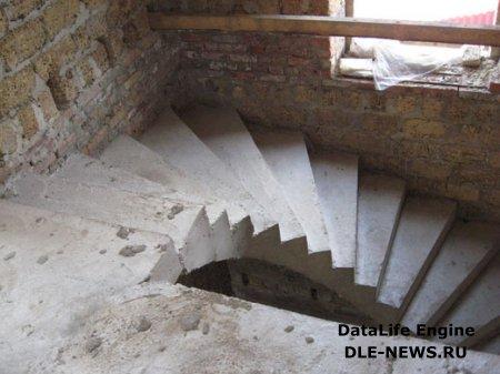 Засыпная монолитная лестница с площадкой своими руками