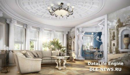 Архитектурные элементы в дизайне гостиной