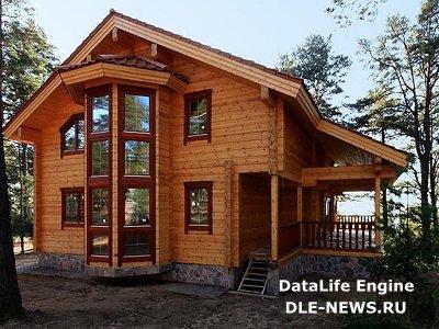 Современный дом из клееного бруса красив и престижен