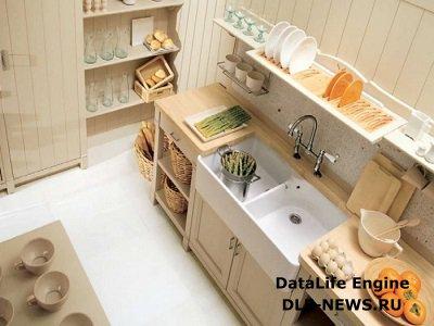 Модерн в оформлении дачной кухни