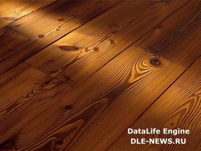 Половая доска из натуральной древесины.