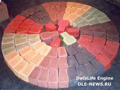 Особенности изготовления цветного бетона
