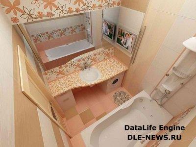 Дизайн ванной маленьких размеров