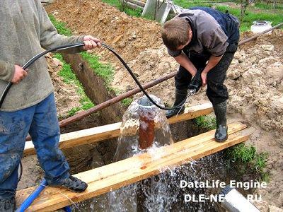Подготовительные работы по установке артезианской скважины на участке