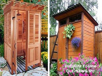 Самодельный дачно-садовый душ
