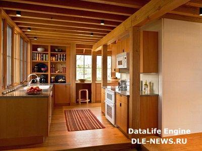 О потолке деревянного дома