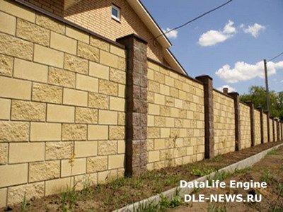 Дачный забор из блоков