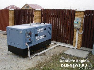 Дизельный генератор для дома за городом.