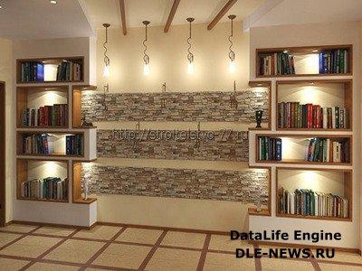 Отделка стен с использованием искусственного камня
