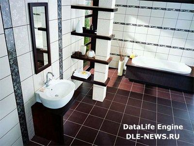 Плиточный декор ванной комнаты