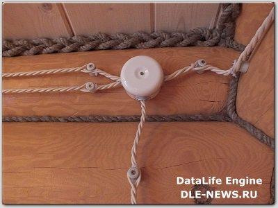 Типы открытой проводки; провода и изоляторы