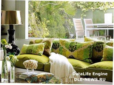 Зеленый островок в интерьере квартиры