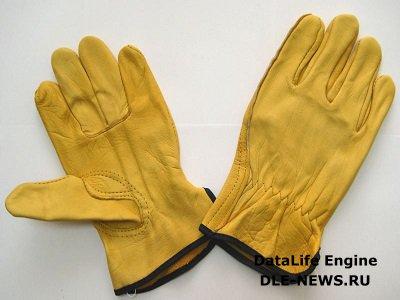 Строительные перчатки из спилка