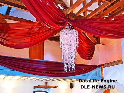 Монтаж потолочной драпировки