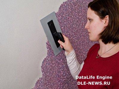 Техника нанесения жидких обоев на стену