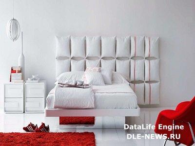 Изголовье кровати как доминирующий акцент спальной комнаты