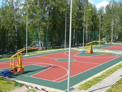 Резиновое покрытие на спортивные площадки