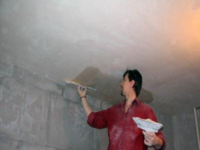 Подготовка потолочных оснований к нанесению штукатурного слоя