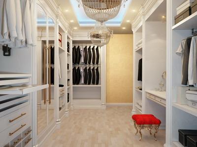 Гардеробные комнаты в интерьере