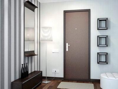 Металлические двери в интерьере