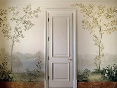 Художественное декорирование стен: популярные материалы