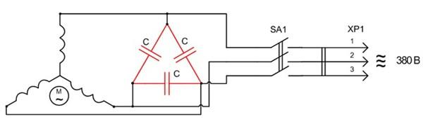 Схема сборки трёхфазного генератора