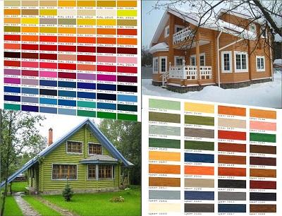 Популярные краски для деревянных домов