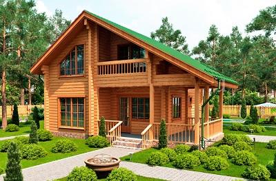Проекты домов из бруса: разнообразие вариантов
