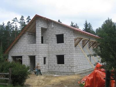 Cтроительство домов из газобетона