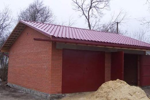 Построить гараж своими руками на 2 машины